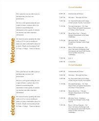 Wedding Programs Template Microsoft Word General Event Program