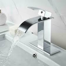 chrome waterfall bathroom sink faucet