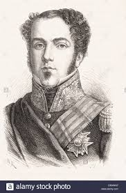 Portrait of Don Pedro - French engraving XIX th century Stock Photo - Alamy
