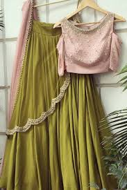 Light Green Combination Light Green Baby Pink Color Combination Attractive Lehenga