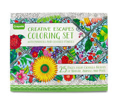 coloring set. Plain Set Creative Escapes Coloring Set Large Gift Set And C