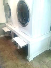 washer dryer pedestal and laundry build easy diy dry
