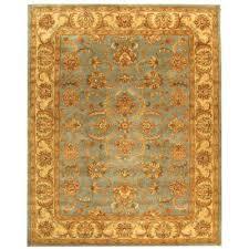heritage blue beige 8 ft x 11 ft area rug