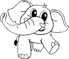 Frightened Elephant Coloring Page Best Free Coloring Pages Site