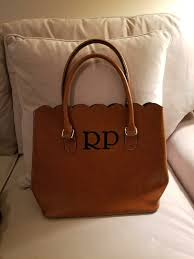 leather monogrammed leather tote woman s purse