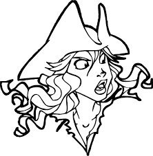 Small Picture Pirates Of The Caribbean Character Girl Face Coloring Page