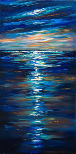 dusk on the ocean by linda olsen dusk on the ocean painting dusk on the ocean fine art prints and posters for