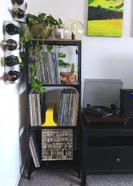 vinyl record furniture. Furniture Ideas:Diy Ikea Hack Fjallbo Shelf Unit Turned Into The Perfect Vinyl Record Shelving