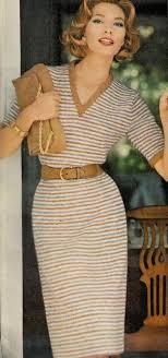 Vogue Knitting Patterns Cool Elegant Vintage Vogue Knitting Patterns Vneck Striped Dress TONEAZN