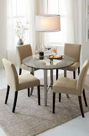 13 crate and barrel dining room chairs halo grey round dining table with 42 glass top