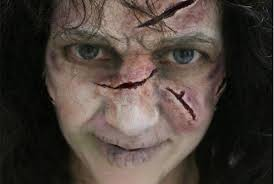 exorcist with wax sfx makeup