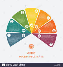 Business Chart Modern Infographic Vector Template From Color