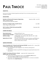 Sample Resume For An Entry Level Electrical Engineer Refrence Best