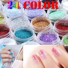 24 Color Free choice Optional Metal polvere Glitter Nail Art Tool ...