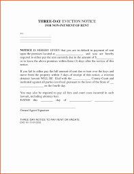Rent Notice Letter Sample Eviction Notice Template Average Eviction Notice Letter Example