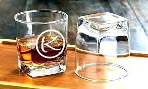 monogrammed scotch glasses custom whiskey monogram glass personalized engraving whisky can crystal