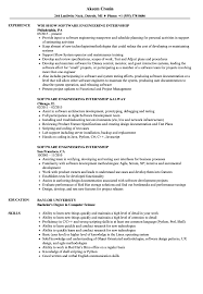 Resume Templates Software Engineer Intern Samples Velvet Jobs
