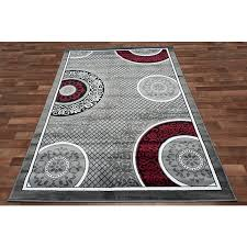 awesome hollywood design 284 abstract wave design red area rug 5x7 throughout red black and grey area rugs