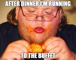 fat guy eating wings - Imgflip