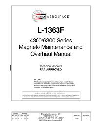 Slick Magneto Application Chart Slick Magneto Overhall Manual Manualzz Com