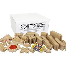right track toys wooden train track deluxe sets