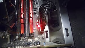 Red Cpu Light On Motherboard Pc Wont Turn On After Blackout Although Red Light Is