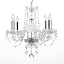 g46 b15 b43 275 4 crystal chandelier chandeliers lighting with chrome sleeves swag chandeliers