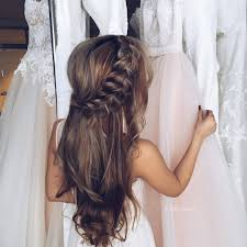 Wedding Hair Style Picture unique hairstyles unique hairstyles half updo and fishtail 1836 by wearticles.com