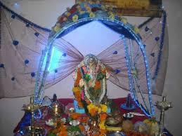 decorated lord ganesha idol for ganesh chaturthi festival