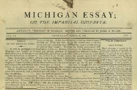 journalism on the frontier seeking michigan the <i>michigan essay< i>