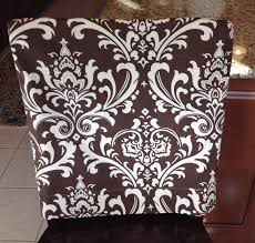 kitchen chair slipcover chair back cover dining room chair cover counter or bar stool seat back cover washable removable damask
