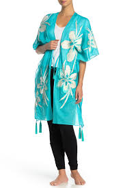 Josie Natori Size Chart Oversized Floral Cover Up Wrap