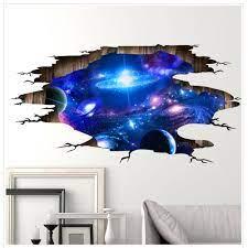 3D Wall Stickers Galaxy Ceiling Sticker ...