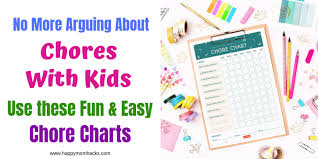 Fun Age Appropriate Chore Charts For Kids Tips Chore