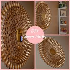 Diy Mirror Diy Spoon Mirror Wall Decor Diys Pinterest Spoon Mirror
