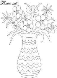 Small Picture Flower pot coloring printable page for kids 1