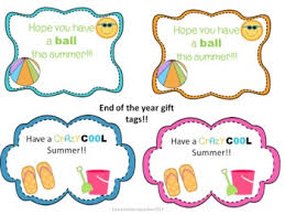 Summer Gift Tags End Of The Year Summer Gift Labels School Gifts Student