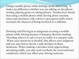 phone use while driving as dangerous as dui 5 using a mobile phone while driving can be distracting it makes no difference whether
