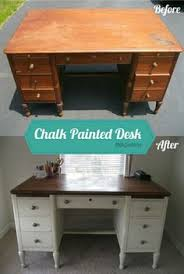 painted office furniture. Keep Top Wood, Paint Sides Color, Add Knobs, Feet To Office Desk Painted Furniture I