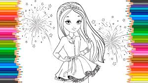 beautiful girl coloring pages. Exellent Girl Beautiful Girl Coloring Pages  Book Video For Children Learn Color  For Kids Intended B