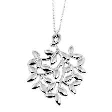 tiffany tiffany co 30143175 paloma picasso olive leaf pendant small ss necklace pendant sterling silver brand new silver las new takei gifts
