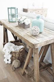 beach cottage furniture coastal. 13 Beach Cottage Rooms - Love This Sawhorse Styled Side Table Made With Reclaimed Wood. Furniture Coastal U