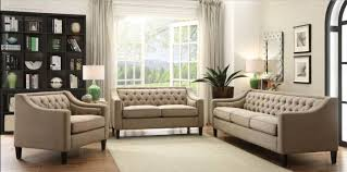 beige tufted sofa.  Beige Acme 54010 Suzanne Beige Fabric Button Tufted Sofa Set 3Pcs Contemporary  ReviewsAcmeSuzanne Throughout U