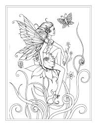 Small Picture Stupefying Fairies Coloring Pages For Adults Detailed Fairy