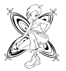 Winx Club Coloring Pages Tecna