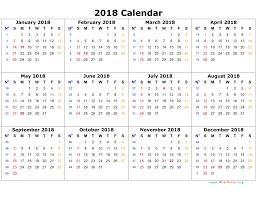 2018 calandars