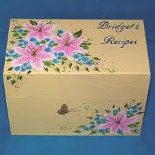 Decorative Recipe Box Hand Painted Personalized Recipe Box from EssenceOfTheSouth on 24