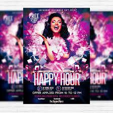 Happy Hour Flyer Happy Hour Party Premium Psd Flyer Template