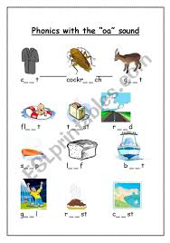 Free printable phonics workbook and printable worksheets for vowel combinations ee, ai, oo, oa, and ai. Phonics With The Oa Sound Esl Worksheet By Gerbrandeeckhout