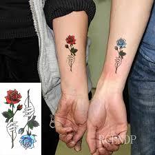 водонепроницаемые временные тату наклейки красивая цветочная роза временная